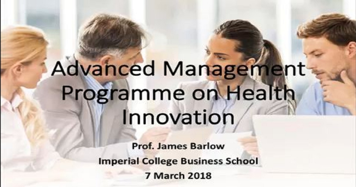 Advanced Management Programme on Health Innovation