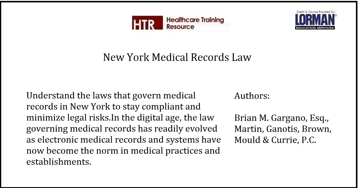 New York Medical Records Law