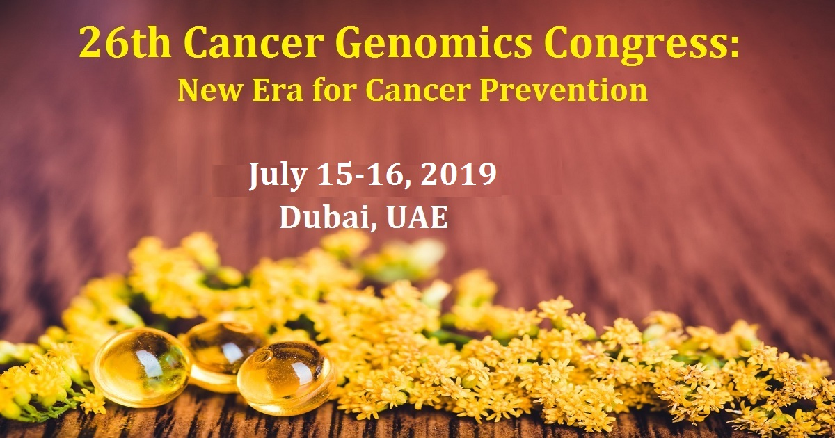 26th Cancer Genomics Congress: New Era for Cancer Prevention