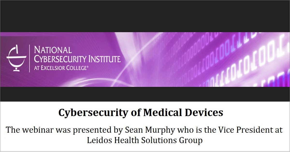 Cybersecurity of Medical Devices