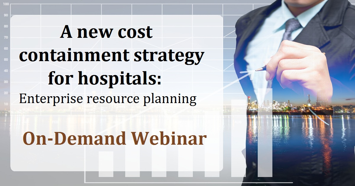 A new cost containment strategy for hospitals: Enterprise resource planning