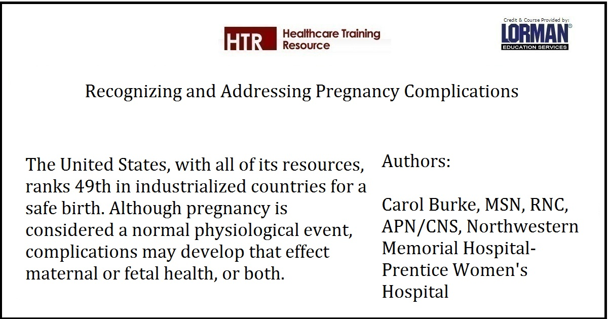 Recognizing and Addressing Pregnancy Complications