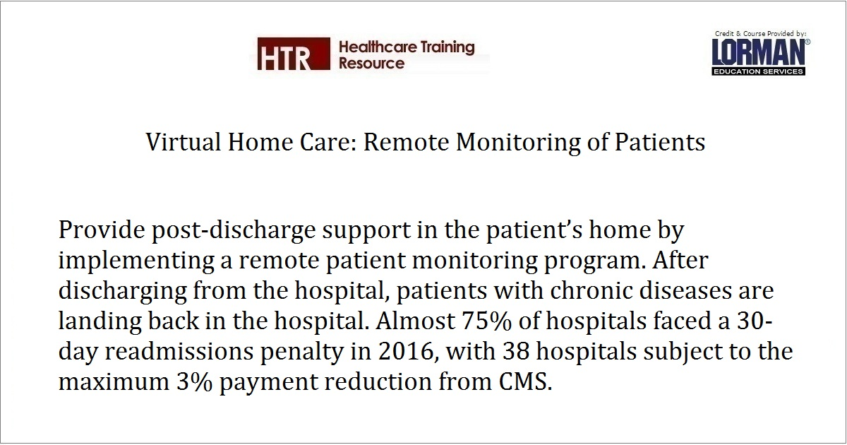 Virtual Home Care: Remote Monitoring of Patients