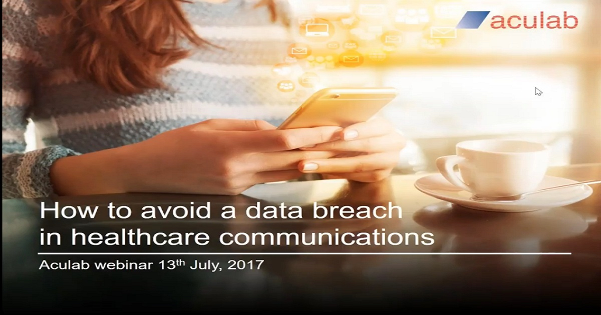 How to avoid a data breach in healthcare communications