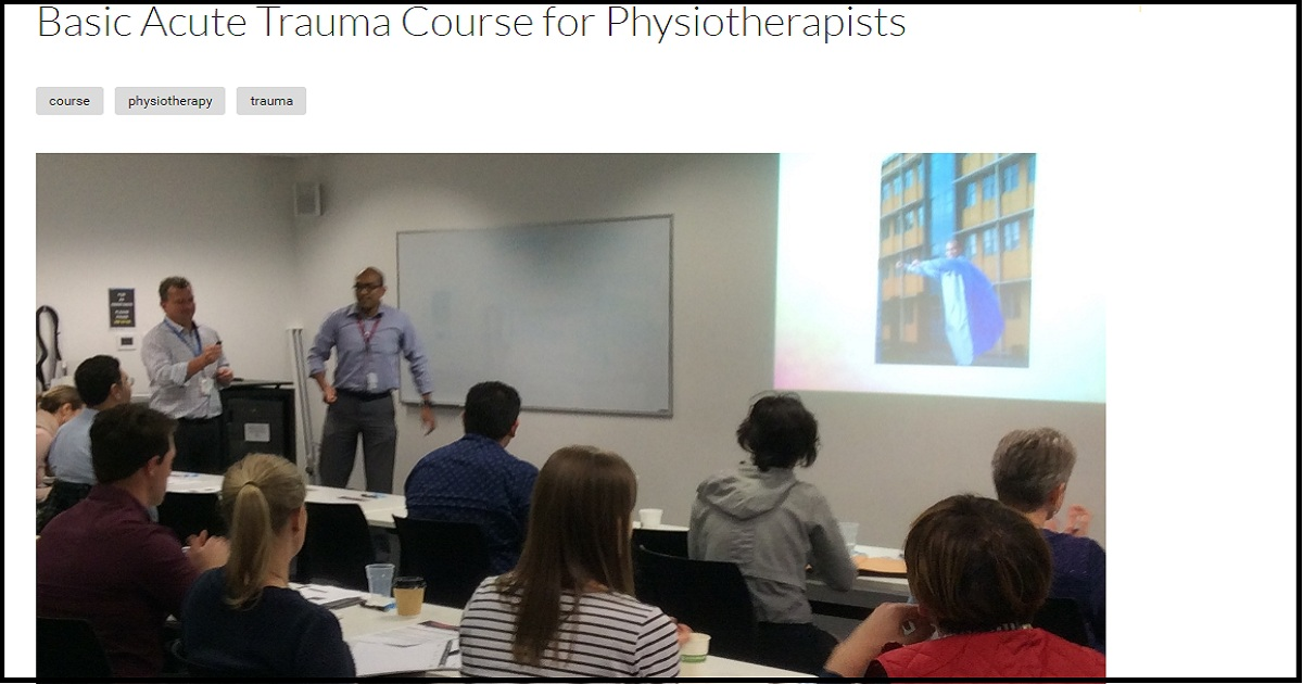 Basic Acute Trauma Course for Physiotherapists