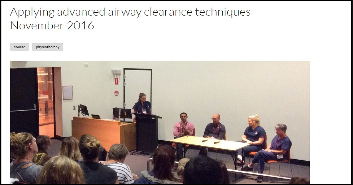 Applying advanced airway clearance techniques - November 2016