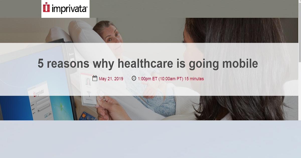 5 reasons why healthcare is going mobile