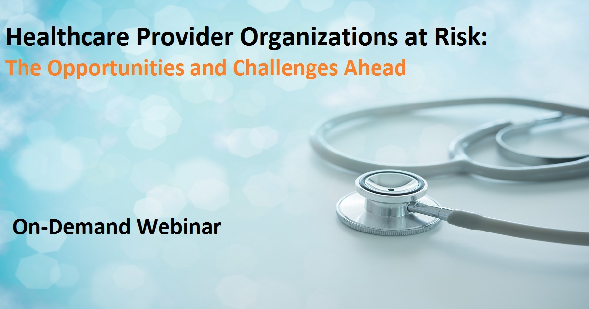Healthcare Provider Organizations at Risk: The Opportunities and Challenges Ahead