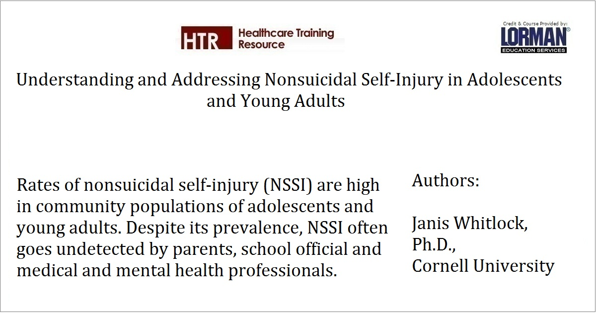 Understanding and Addressing Nonsuicidal Self-Injury in Adolescents and Young Adults