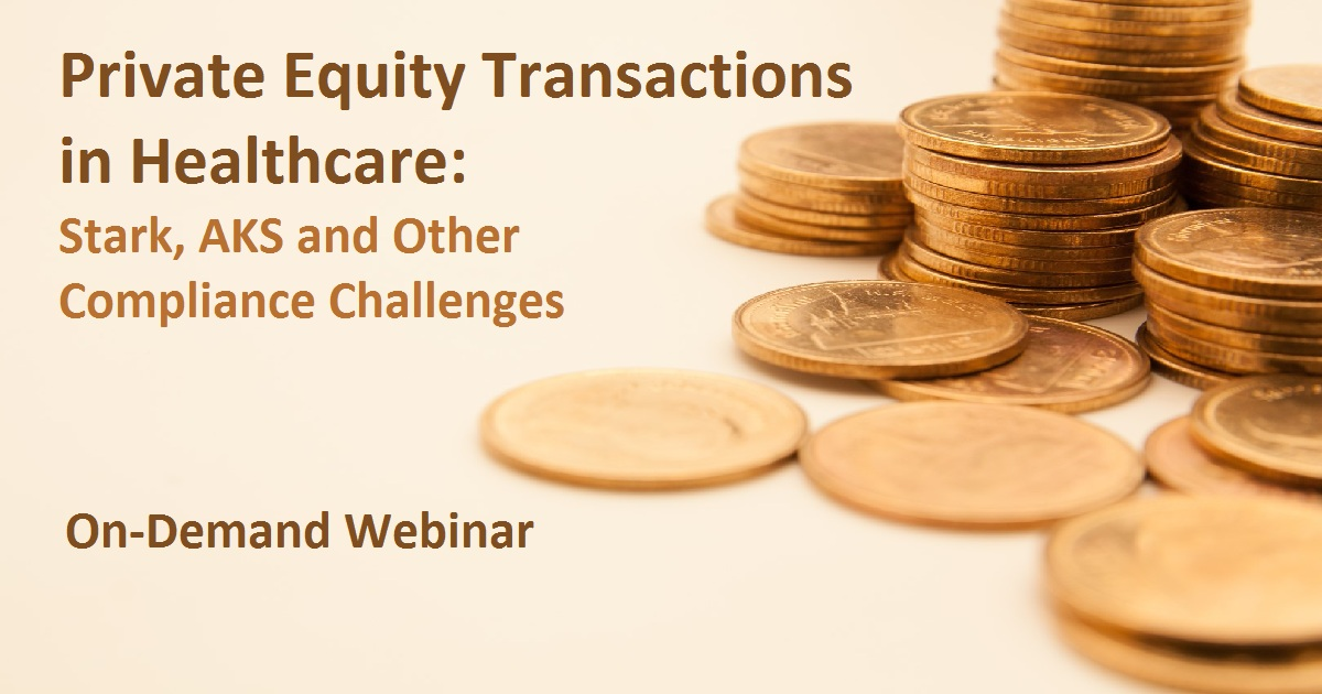Private Equity Transactions in Healthcare