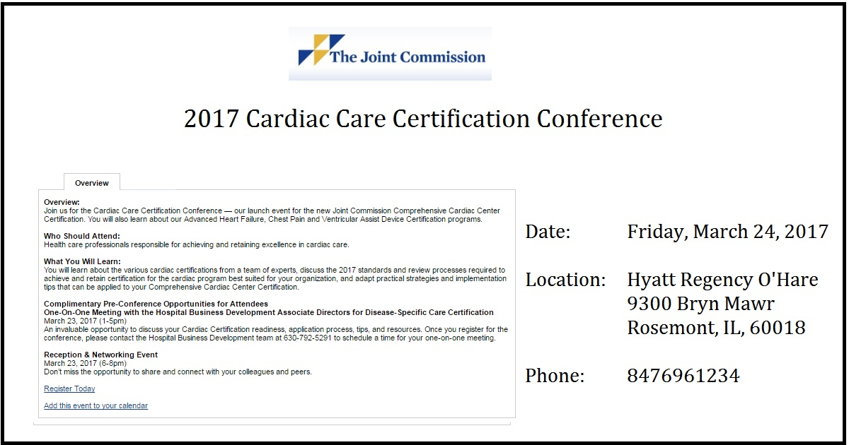 2017 Cardiac Care Certification Conference March 24 24 2017