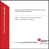 BECKMAN COULTER GALLIOS* FLOW CYTOMETER AND THE DETECTION OF MICRO-PARTICLES