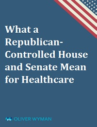WHAT A REPUBLICAN-CONTROLLED HOUSE AND SENATE MEAN FOR HEALTHCARE